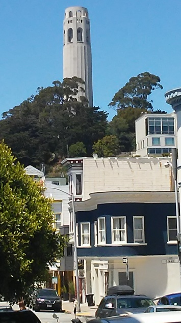 coit tower below